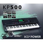 Teclado Kadosh Key Power 61 Teclas USB 300 Timbres e Ritmos KP500