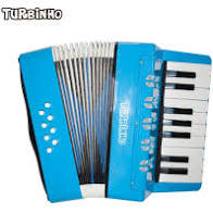 Acordeon Turbinho Infantil 104LB 8 Baixos 17 Teclas Azul Claro  - MegaLojaSP