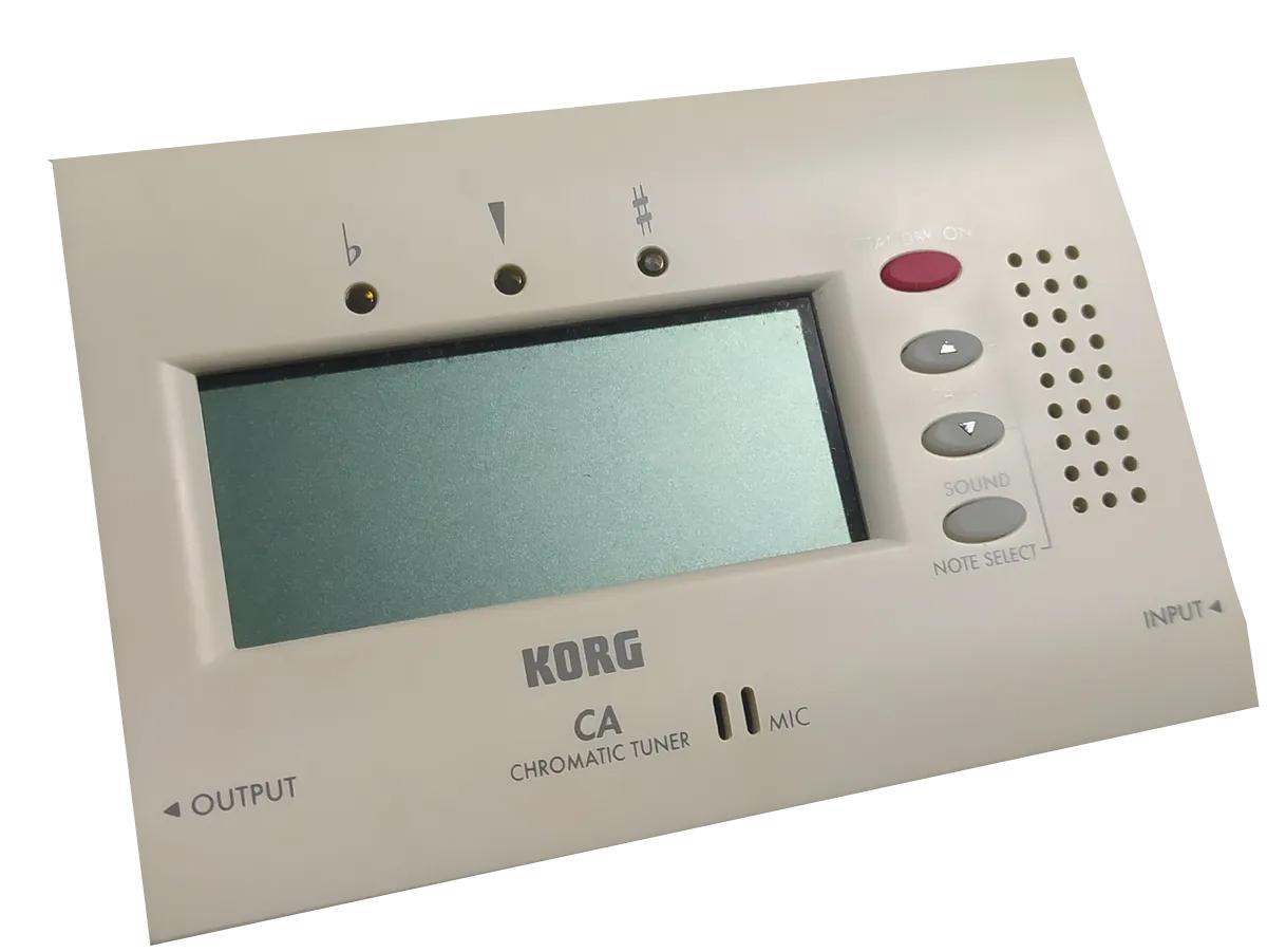 Afinador Korg Ca40 cromático microfone e entrada / saída cabo  - MegaLojaSP