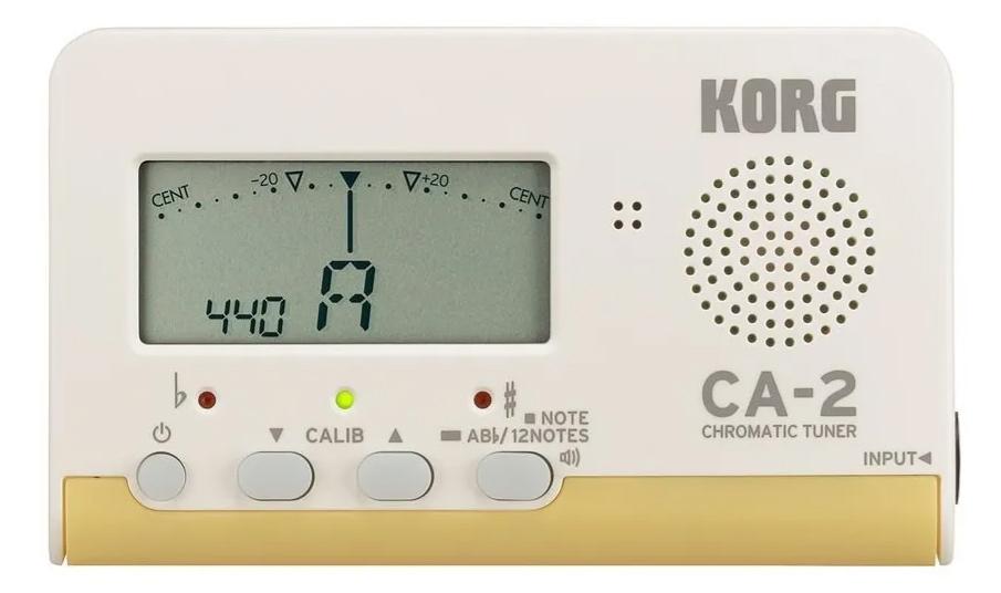 Afinador Korg Compacto Cromático Cordas Sopro CA2  - MegaLojaSP