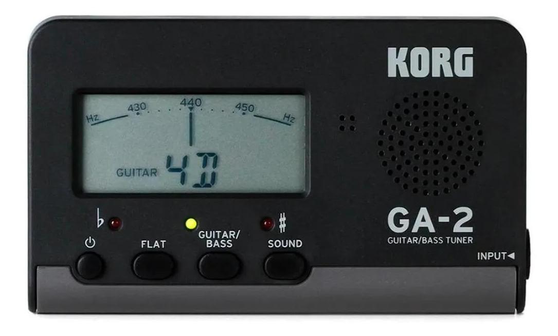 Afinador Korg  Compacto Para Guitarra / baixo GA2  - MegaLojaSP