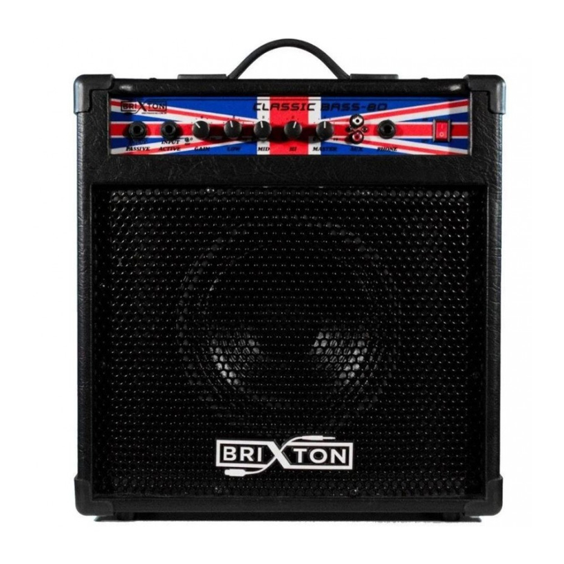 Amplificador Brixton  Bass 80 Contrabaixo   - MegaLojaSP