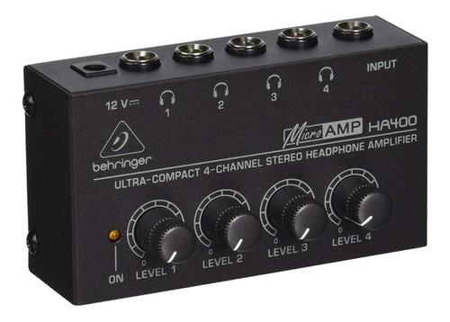 Amplificador de Fones Behringer Ha400 Microamp  - MegaLojaSP