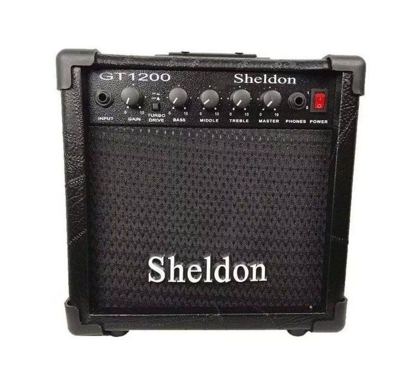 Amplificador Sheldon para Guitarra GT1200 15W Preto  - MegaLojaSP