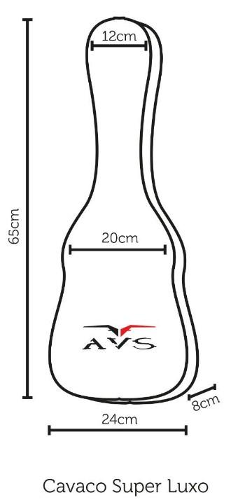 Bag Capa Nylon Super Luxo Avs BIC003SL Cavaco Cavaquinho  - MegaLojaSP