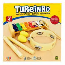 Bandinha Infantil Turbinho 4 instrumentos BR4B  - MegaLojaSP