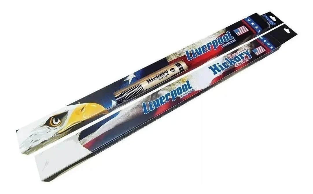 Baqueta American Hickory 5a Ponta De Madeira Hy5am [kit]  - MegaLojaSP