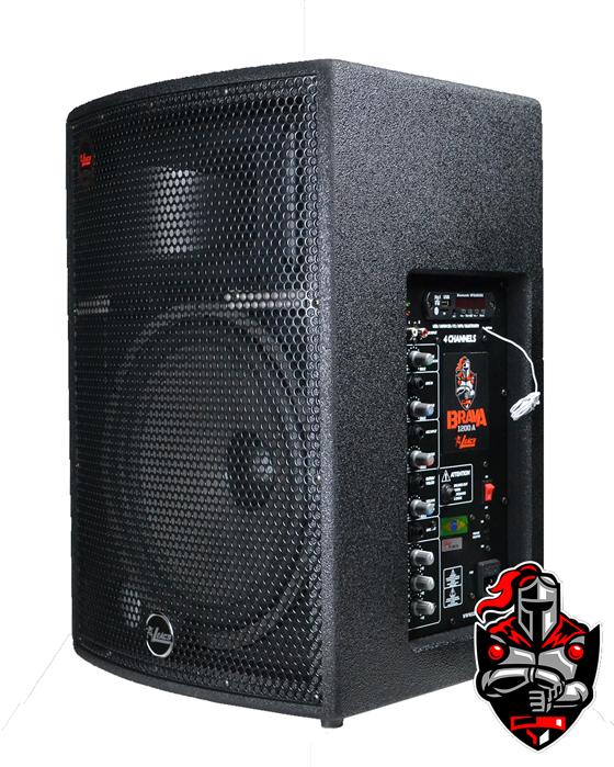 Caixa Amplificadora Leacs Linha Brava 1200 Ativa 250w Rms  - MegaLojaSP