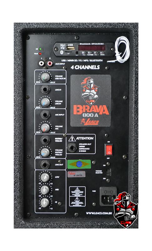 Caixa Amplificadora Leacs Linha Brava 800 Ativa 150w Rms  - MegaLojaSP