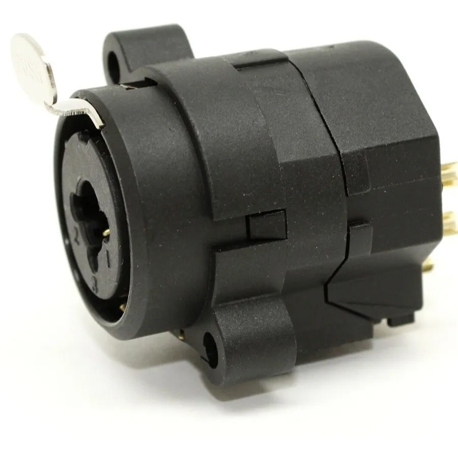 Conector Plug Combo Xlr Fêmea P10 Painel Medusa Kit com 12  - MegaLojaSP