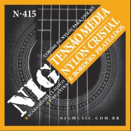 Cordas NIG Encordoamento para Violão Nylon N415  - MegaLojaSP