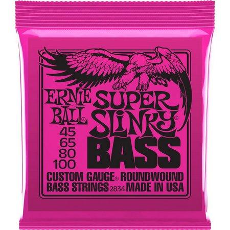 Encordoamento Ernie BAll 2834 Super Slinky Bass 45-100  - MegaLojaSP