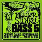 Encordoamento Ernie Ball Baixo 5 Cordas 45-130 2836  - MegaLojaSP