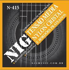 Encordoamento NIG N415 Violão Nylon Cristal Tensão Media  - MegaLojaSP