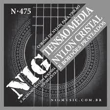 Encordoamento NIG N475 Violão Nylon Cristal Com Bolinha Tensão Média  - MegaLojaSP