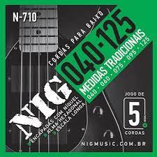 Encordoamento Nig N710 Baixo 5 Cordas 40-125  - MegaLojaSP