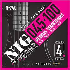 Encordoamento Nig N740 Baixo 4 Cordas 45-100  - MegaLojaSP