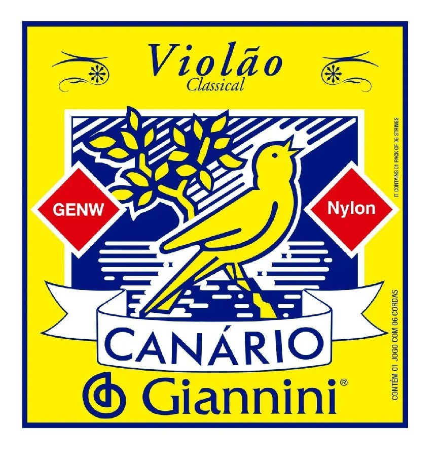 Encordoamento Giannini Canário Violão Nylon Cristal Genw  - MegaLojaSP