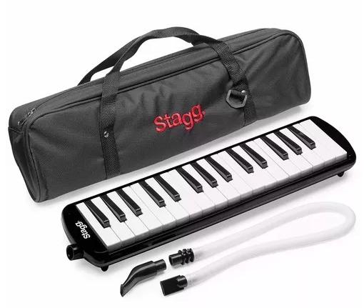 Escaleta Stagg 32 Teclas Preta com Capa Bag Profissional  - MegaLojaSP