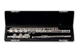 Flauta Transversal Schieffer Prateada SCHF001  - MegaLojaSP
