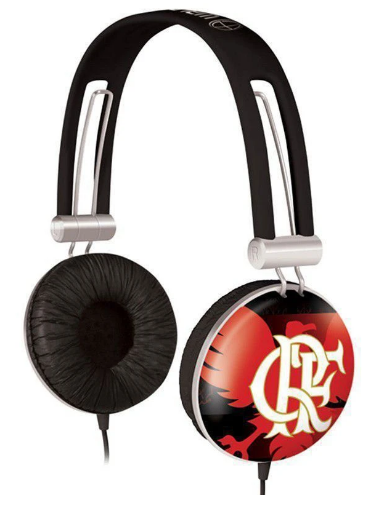Fone de Ouvido Headphone Waldman Flamengo SG10FLA  - MegaLojaSP