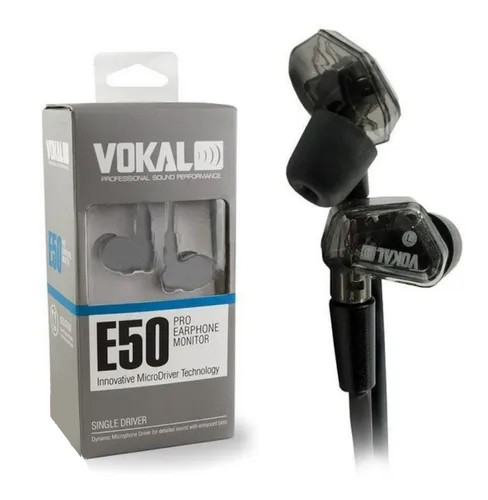 Fone De Ouvido Vokal E50 Pro In Ear Original Novo Lote  - MegaLojaSP