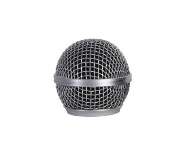 Globo para Microfone Mxt Metálico Prata Rosca 31mm  - MegaLojaSP