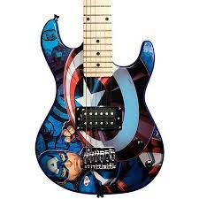 Guitarra Infantil PHX Marvel Capitão America   - MegaLojaSP
