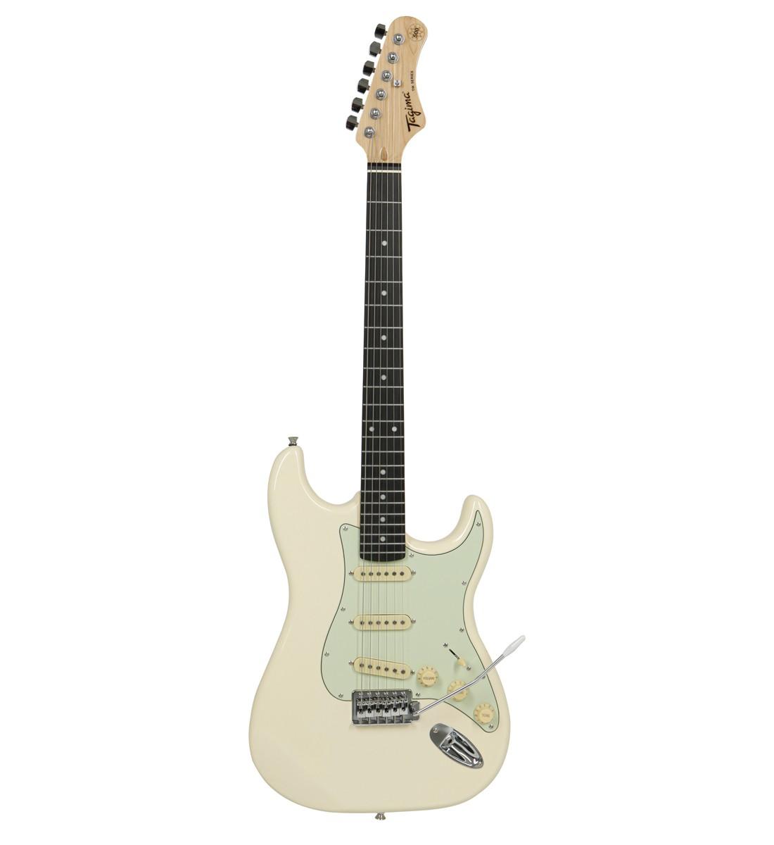Guitarra Tagima TG500 Woodstock Branco Metálico TG-500  - MegaLojaSP