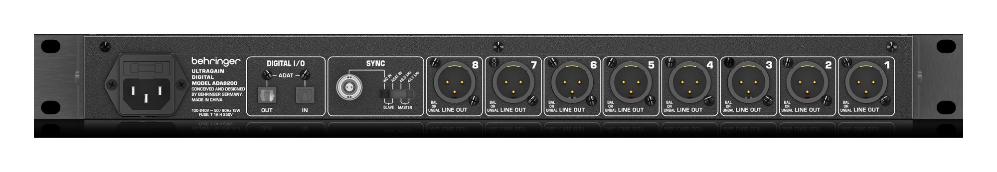 Interface de Audio Behringer ADA8200 Ultragain A12421  - MegaLojaSP