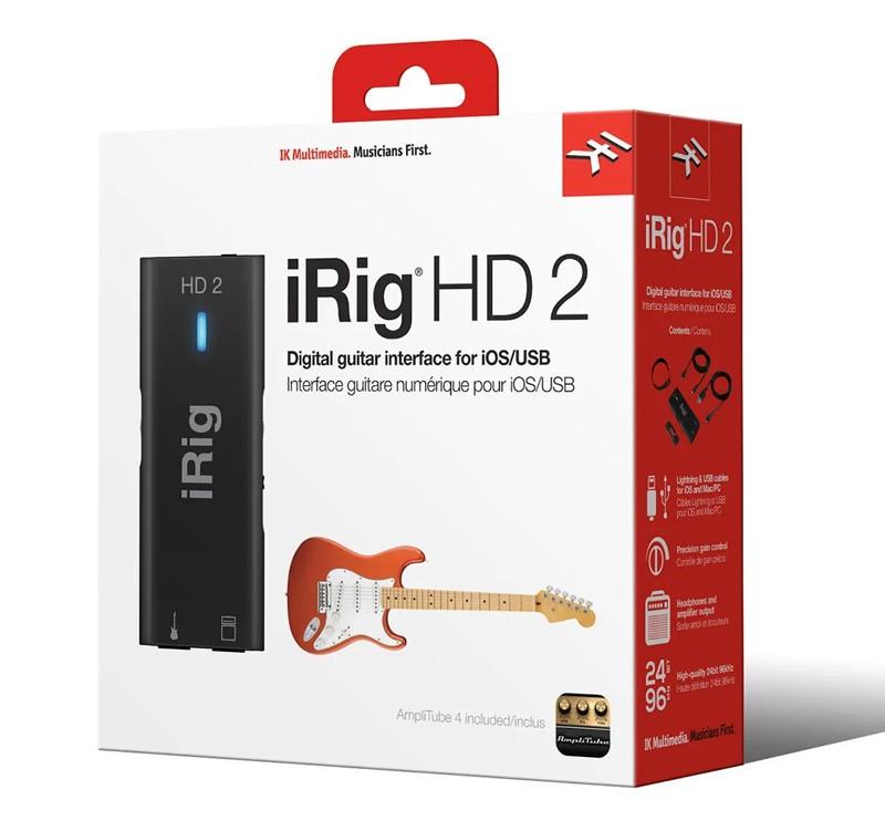 Interface De Áudio Ik Multimedia Irig HD 2 Guitar iOS/USB  - MegaLojaSP