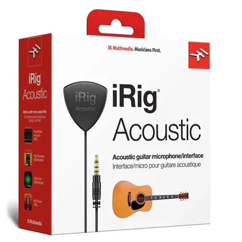 Interface Para Violão Irig Acoustic- Ik Multimedia  - MegaLojaSP