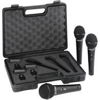 kit 3 Microfones Behringer Ultravoice XM1800S  - MegaLojaSP