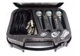 Kit 3 Microfones Leacs LC59 Beta Mão Com Fio  - MegaLojaSP