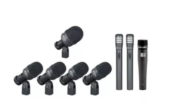 Kit Microfone Para Bateria K-8 Kadosh 8 Mic C Maleta K8 Slim  - MegaLojaSP