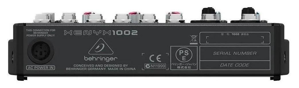 Mesa de Som Behringer Xenyx1002 Analógica 110v P10 E Xlr  - MegaLojaSP