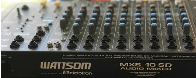 Mesa de Som Ciclotron 10 Canais e USB MXS10SD  - MegaLojaSP