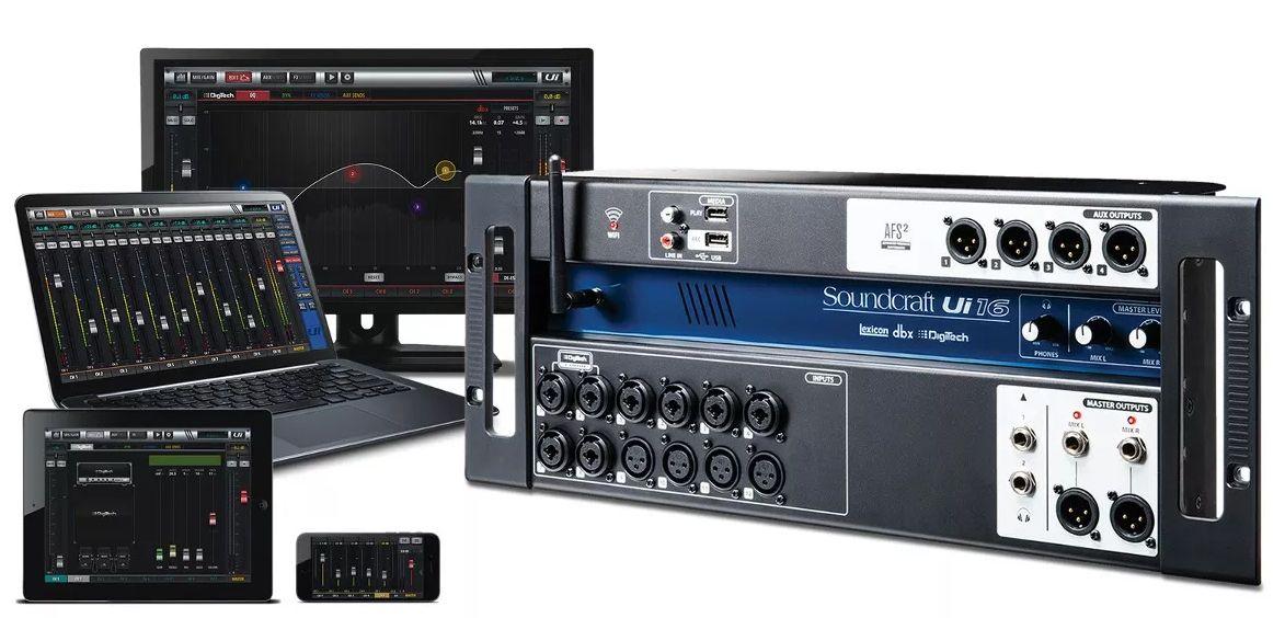 Mesa De Som Digital Soundcraft Ui16  - MegaLojaSP