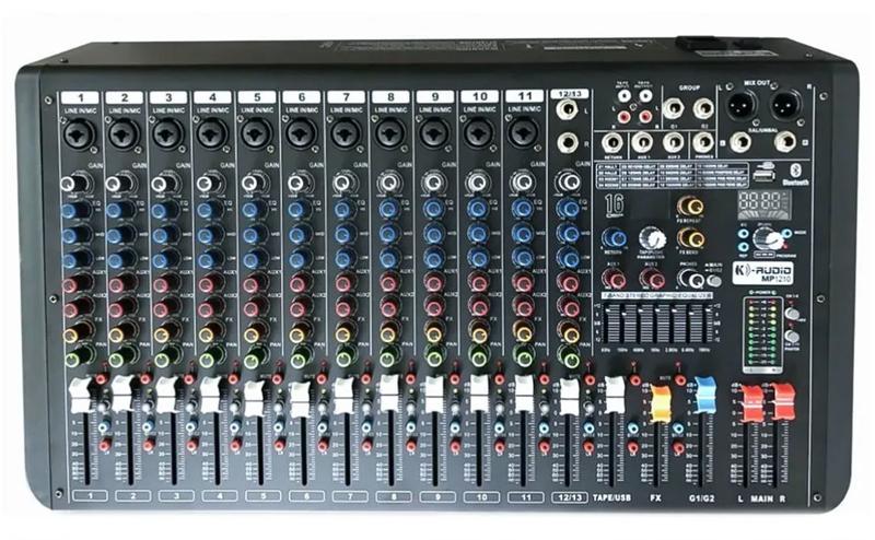 Mesa De Som K-audio 12 Canais Mp1210   - MegaLojaSP