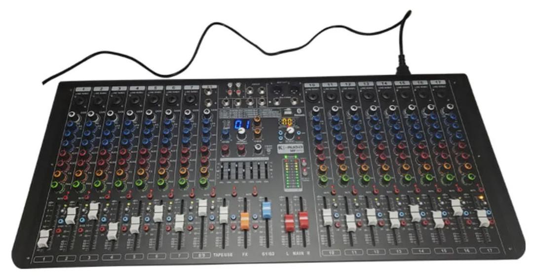 Mesa de Som K-Audio 16 Canais MP1610  - MegaLojaSP