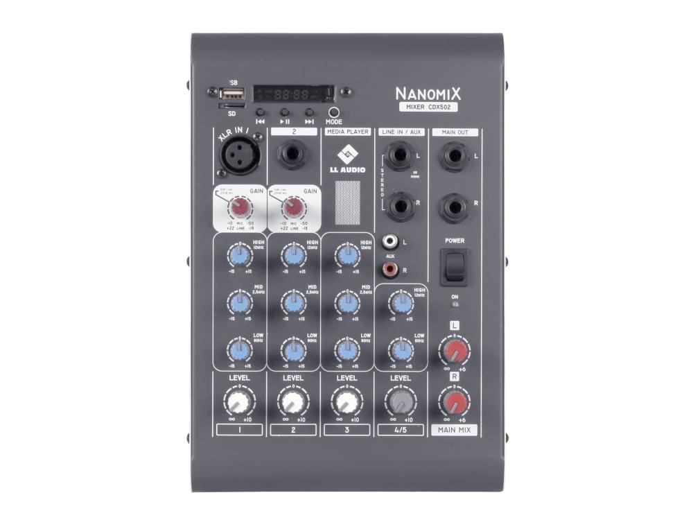 Mesa de Som LL Audio CDX 502  - MegaLojaSP
