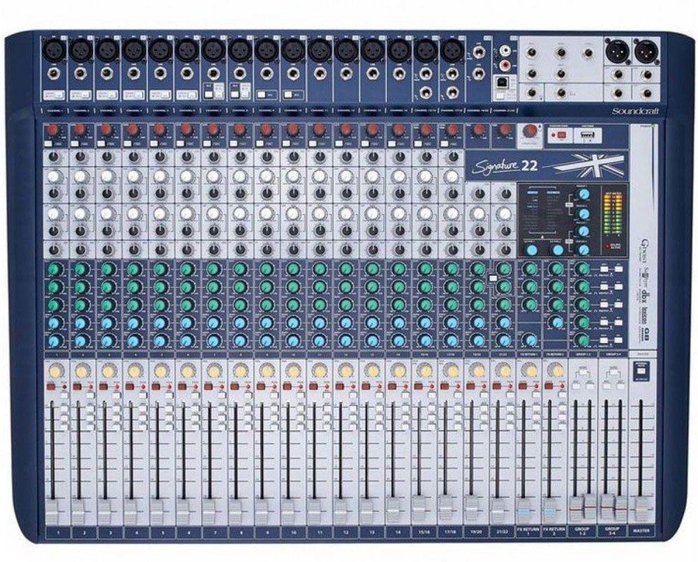 Mesa De Som Soundcraft Signature 22 Canais Usb  - MegaLojaSP