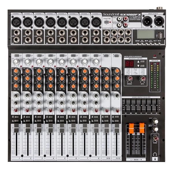 Mesa De Som Soundcraft Sx1202Fx Usb Bivolt 12 Canais  - MegaLojaSP