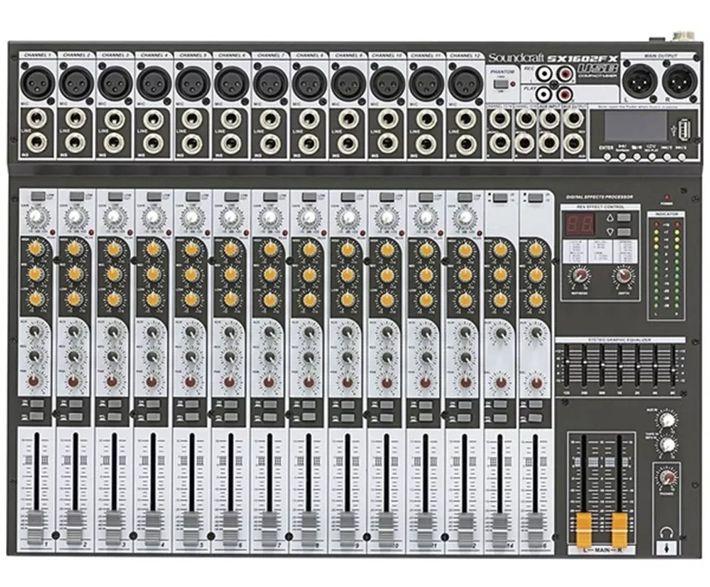 Mesa De Som Soundcraft Sx1602Fx 16 Canais Usb Bivolt  - MegaLojaSP