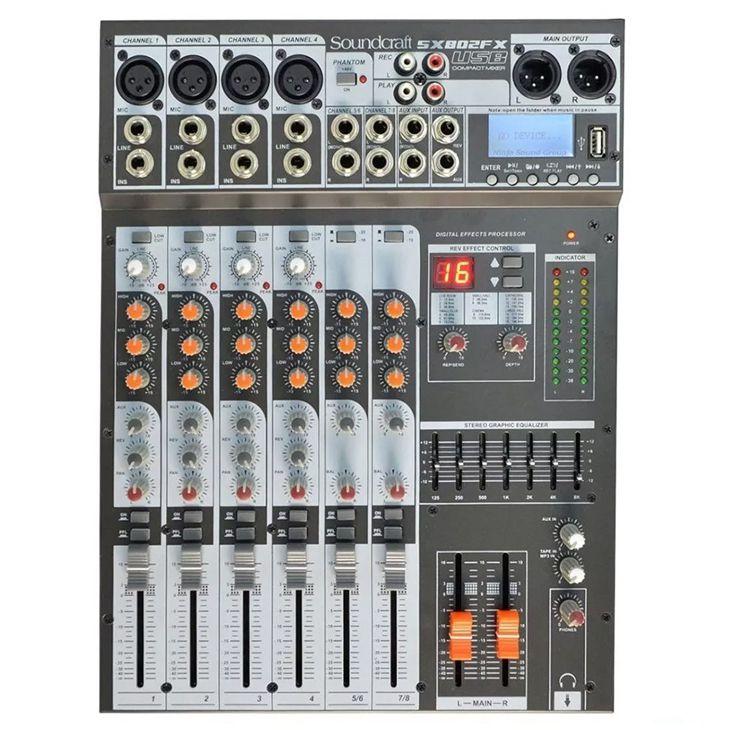 Mesa de Som Soundcraft SX802FX 8 Canais Usb   - MegaLojaSP