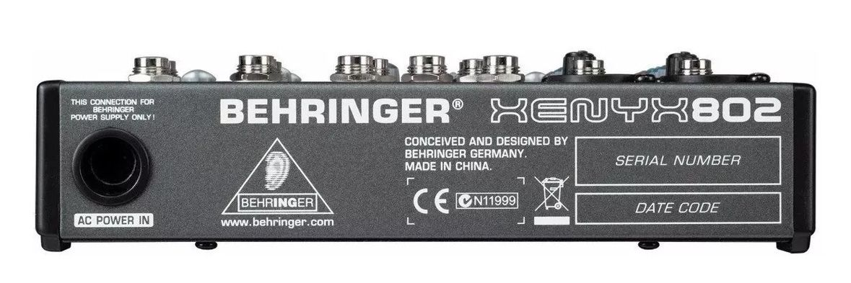 Mesa Som Behringer Mixer 8 Entradas Xenyx802 110v  - MegaLojaSP