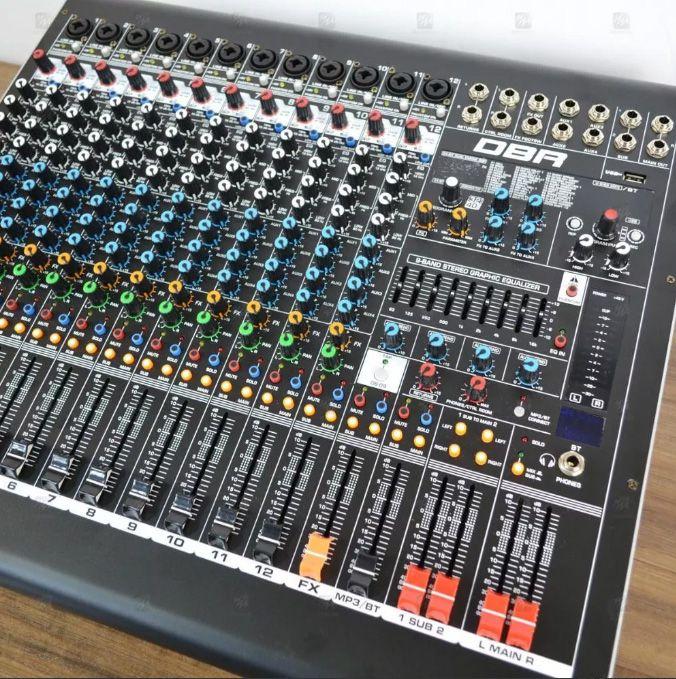 Mesa de Som DBR 12 Canais  Dm12 Usb Bluetooth  - MegaLojaSP
