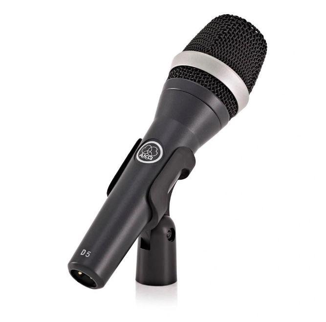 Microfone AKG D5 Supercardióide Dinâmico Profissional  - MegaLojaSP