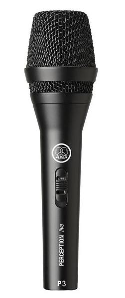 Microfone AKG P3S Cardióide Preto  - MegaLojaSP