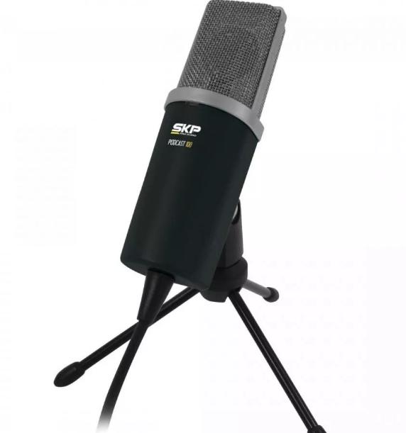 Microfone Condensador Podcast100 SKP Profissional  - MegaLojaSP